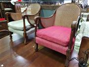 Sale 8657 - Lot 1051 - Two Similar Rattan Back Tub Chairs