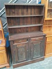 Sale 8676 - Lot 1133 - Timber Buffet & Hutch