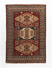 Sale 8760C - Lot 98 - An Afghan Kazak Geometric Design 100%Wool And Natural Dyes, 240 x 170cm