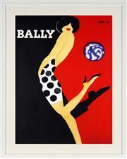 Sale 8771 - Lot 2001 - After Bernard Villemot - Bally Girl 78.5 x 59cm (frame: 97 x 77.5cm)