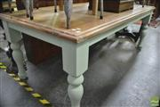 Sale 8337 - Lot 1047 - Shabby Chic Table with Oak Top
