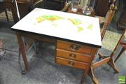 Sale 8352 - Lot 1054 - Vintage Desk with Atlas Top
