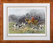 Sale 8379A - Lot 12 - Heywood Hardy (1842 - 1933) - A Shortcut to the Meet 48 x 69.5cm