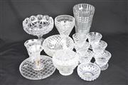 Sale 8396C - Lot 15 - Glass Sherbet Bowls with Other Wares incl. Stourbridge Vase