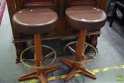 Sale 8542 - Lot 1069 - Pair of Bar Stools