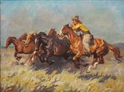 Sale 8624 - Lot 561 - Janos Viski (1891 - 1987) - Untitled (Mustering) 58.5 x 68.5cm
