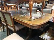 Sale 8657 - Lot 1077 - Maple 7 Piece Dining Suite