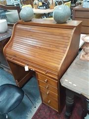 Sale 8676 - Lot 1335 - Timber Roll Top Desk