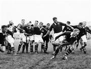 Sale 8754A - Lot 87 - Australian 'Wallabies' vs New Zealand 'All Blacks', 1958 - Firt test game, New Zealand 1958 16 x 21cm