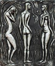 Sale 8787A - Lot 5033 - Guy Boyd (1923 - 1988) - The 3 Graces 1980 60 x 50cm