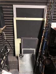 Sale 8789 - Lot 2278 - Blackboards, Speakers, Shoes etc