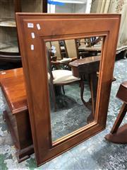 Sale 8822 - Lot 1862 - Timber Framed Bevelled Edge Mirror