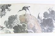 Sale 8894 - Lot 44 - Bird Themed Chinese Scroll