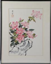 Sale 9003C - Lot 645 - Framed floral themed print (frame size55cm x 44cm)