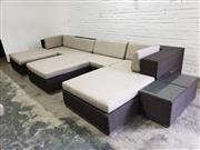 Sale 9059 - Lot 1023 - Large Polyweave 10 Piece Outdoor Lounge Suite (h:71 x w:328 x d:105cm)