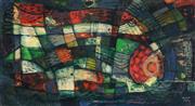 Sale 9067 - Lot 576 - Michael Kmit (1910 - 1981) - Aquarium, 1956 29.5 x 55 cm (frame: 46 x 77 x 4 cm)