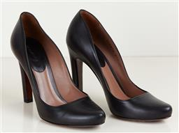 Sale 9120K - Lot 41 - A pair of Giorgio Armani black nero leather heels; in original box and with dust bag, size 37
