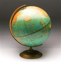 Sale 9114 - Lot 19 - Vintage world globe on stand (h:42cm)