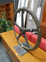 Sale 7943A - Lot 1495 - Mounted Industrial Wheel