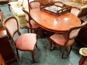 Sale 8676 - Lot 1058 - Oval Extension Dining Table & Six Chairs