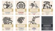 Sale 8727 - Lot 742 - 1x Game of Thrones Single Malt Whisky Set - a collection of 8 bottles representing the house of Game of Thrones (8x 700ml bottles in...