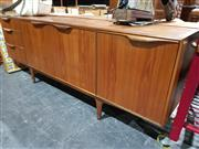Sale 8765 - Lot 1005 - Quality McIntosh Teak Sideboard with 3 Drawers and Drop Front Section