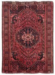 Sale 8725C - Lot 60 - A Vintage Persian Shiraz Carpet, Hand-knotted Wool, 175x240cm, RRP $3,000 (note some colour run)
