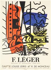 Sale 8794A - Lot 5089 - After Fernand Léger (1881 - 1955) - Galerie Louise Leiris: Dessins et Gouaches, 1958 66.5 x 48cm