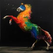Sale 8901 - Lot 585 - Aaron Kinnane (1977 - ) - Senzo 130 x 130 cm