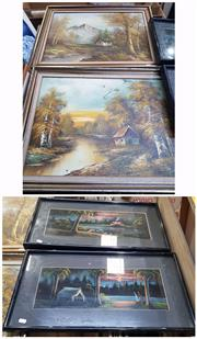 Sale 9024 - Lot 2076 - Group of (4) Australiana Paintings