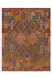 Sale 9019C - Lot 47 - Afghan Maymana Kilim Rug, 165x210cm, Handspun Wool