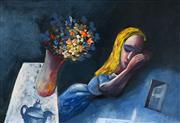 Sale 8451E - Lot 5005 - Charles Blackman (1928 - ) - Dreaming Alice 66 x 97cm ( frame size: 84 x 114cm)