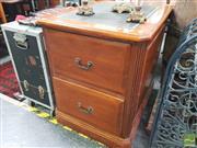 Sale 8455 - Lot 1027 - Timber 2 Drawer Filer