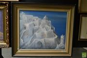 Sale 8503 - Lot 2034 - Artist Unknown, Santorini, 1979, acrylic on canvas board, 50 x 60cm, signed and dated lower left