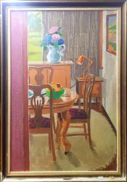 Sale 8659 - Lot 2030 - Artist Unknown - Interior Scene, oil on board, 100 x 70cm (frame size), unsigned