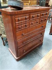 Sale 8848 - Lot 1034 - 19th Century Cedar Chest of Drawers, with two short drawers and two deep drawers also modelled as two, above three long drawers, wit...