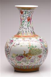 Sale 9060 - Lot 6 - A Large Famille Rose Chinese Bulbous Vase H:52cm