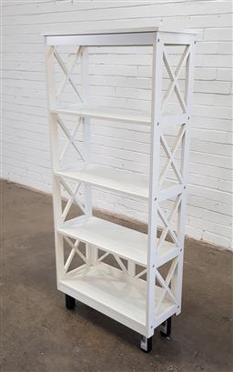Sale 9154 - Lot 1095 - Open timber bookcase (h:149 x w:70 x d:30cm)