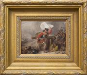 Sale 8871H - Lot 81 - Attributed to Charles Cattermole - Untitled - European Battle Scene, c1830-1840 17 x 22.5cm