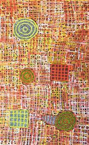 Sale 8286 - Lot 550 - Betty Mbitjana (1955 - ) - Bush Melon - Awelye 155 x 95cm