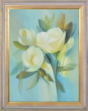 Sale 8349A - Lot 30 - Peter Abraham (1926 - 2010) - Magnolias 58 x 43cm