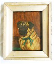 Sale 8362A - Lot 47 - Artist Unknown (French?) - Portrait of a Pug