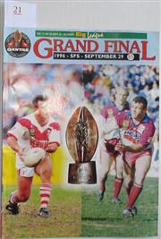Sale 8418S - Lot 21 - 1996 GRAND FINAL 29th Sept Vol 77 No. 28 St George v Manly