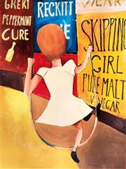 Sale 8451E - Lot 5018 - Charles Blackman (1928 - ) - Skipping Girl 89 x 67cm (frame size: 121 x 94cm)