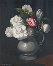 Sale 8519 - Lot 526 - Albert Sherman (1882 - 1971) - Flowers Still Life 35.5 x 29cm