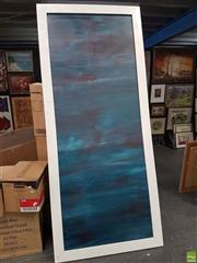 Sale 8573 - Lot 2024 - Artist Unknown Blue Abstract Painting