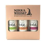 Sale 8785 - Lot 697 - 1x Nikka Whisky Miyagiko Distillery Single Malt Japanese Whisky Box Set - 3x 200ml bottles, 55% ABV