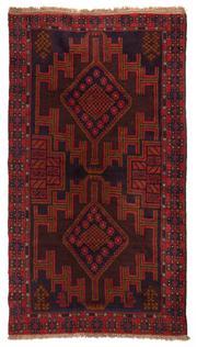 Sale 8715C - Lot 159 - A Persian Balouchi Village Rug, Wool On Cotton Foundation, 200 x 112cm