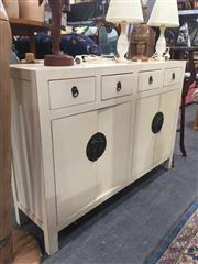 Sale 8822 - Lot 1782 - Oriental Sideboard with Four Drawers & Doors