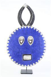 Sale 8844O - Lot 530 - An Ivory Coast Baule Mask on Metal Stand (H54cm Dia30cm)